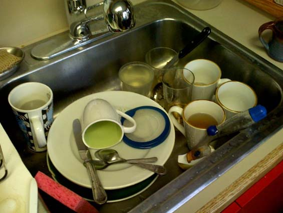 Dishes In Sink Creative Space Organizing